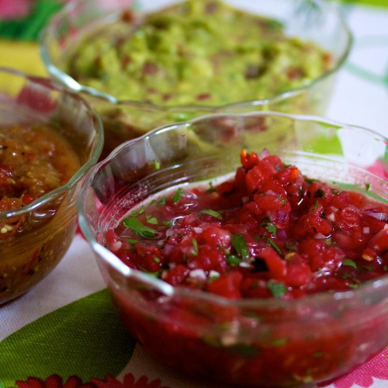 Salsas and guacamole
