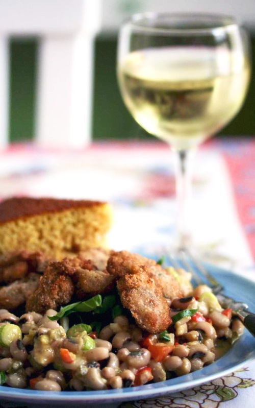 oyster-and-black-eyed-pea-salad
