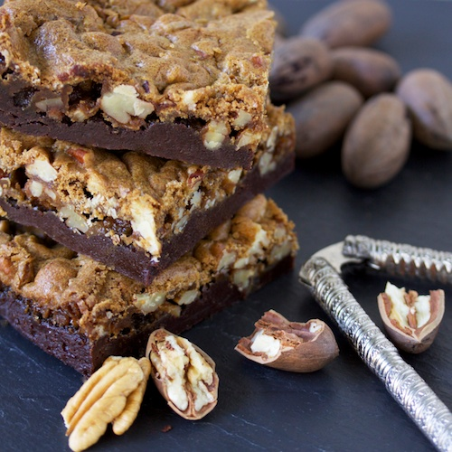 Praline Pecan Brownies
