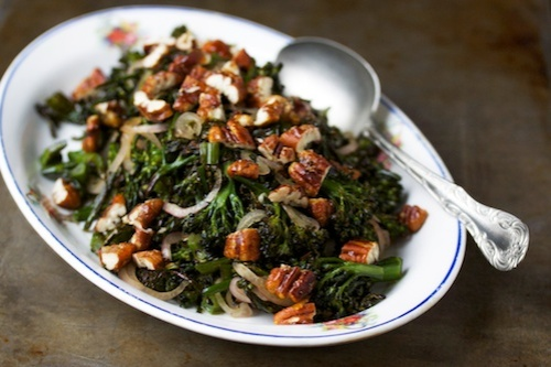 Roasted broccolini salad