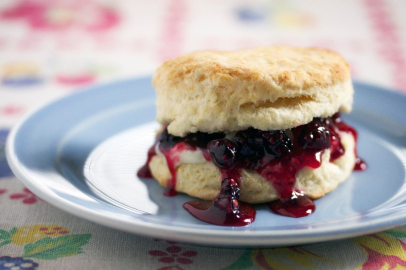 Image result for Biscuit with blackberry preserves