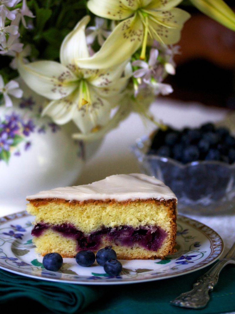 Blueberry Surprise Cake