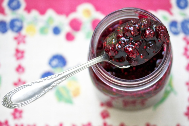 Wild blackberry jam
