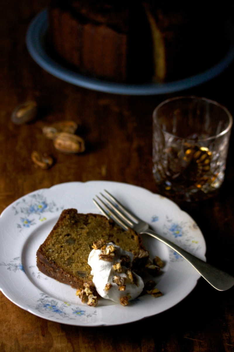 Bourbon Praline Pound Cake
