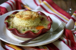 Leek and rabbit pot pie
