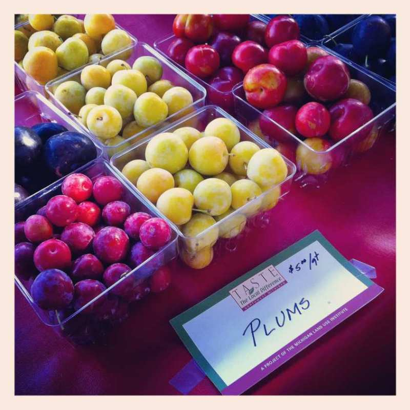 Farmers' market plums