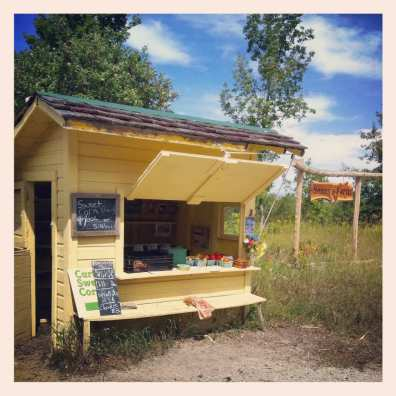 Roadside produce stand
