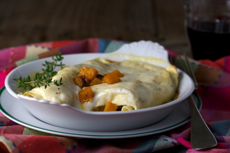 Butternut squash cannelloni