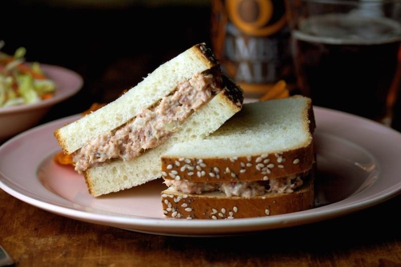Country ham salad sandwich