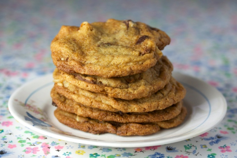 Dark Chocolate & Sea Salt Caramel Squares Cookies