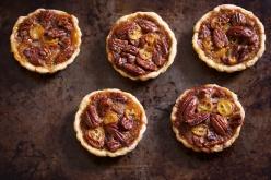 Kumquat pecan tarts