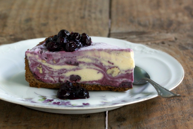 Blueberry Ginger Ice Cream Pie