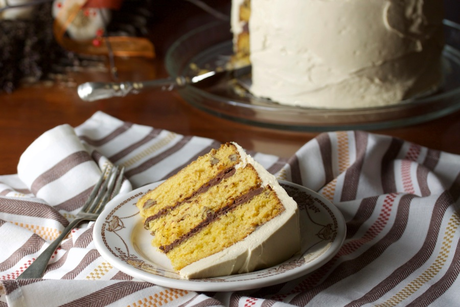 Vintage burnt sugar cake with maple cream cheese frosting updated