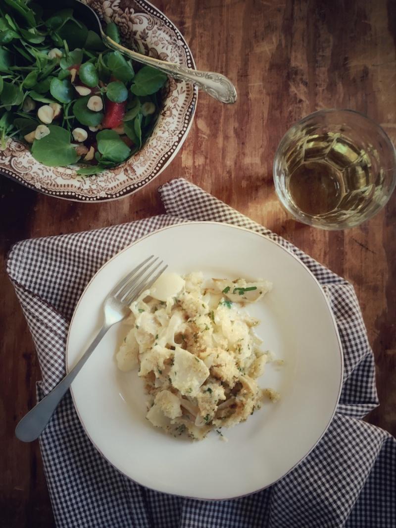 Salt cod gratin