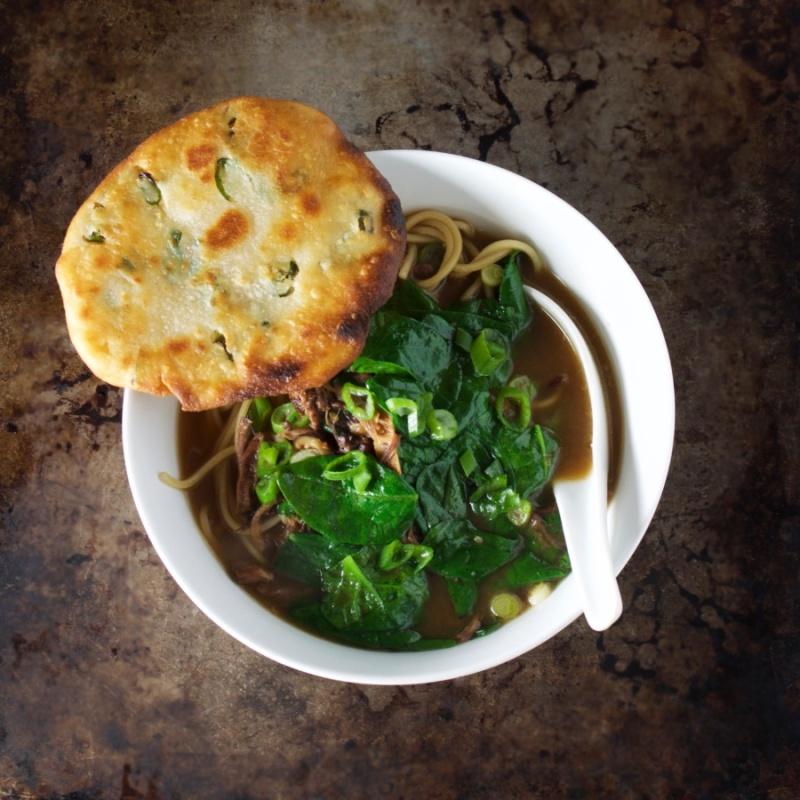 Oxtail ramen soup