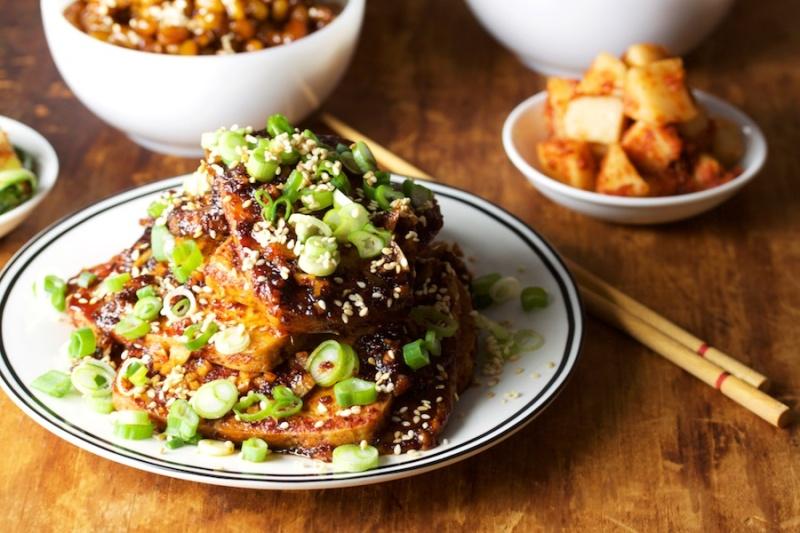 Soy-braised tofu