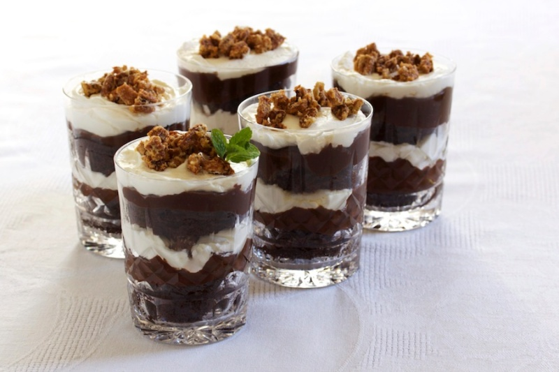 Bourbon ball trifle