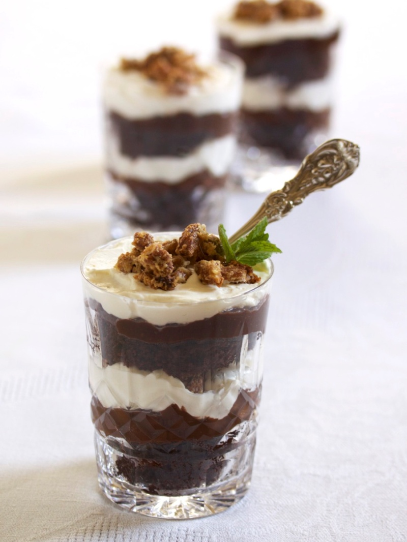 Bourbon ball trifle