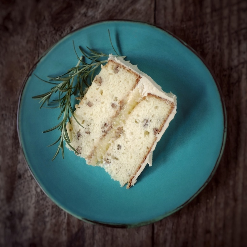 Rosemary Pecan Layer Cake