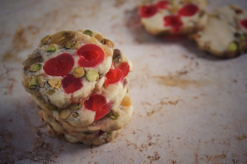 Ginger fruitcake icebox cookies